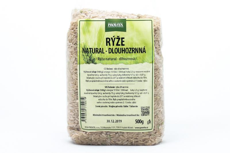 Ryža dlhozrnná natural