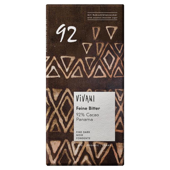 Horká čokoláda 92% Vivani