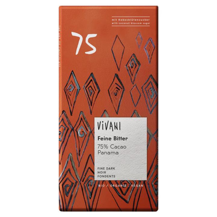 Horká čokoláda 75% Panama