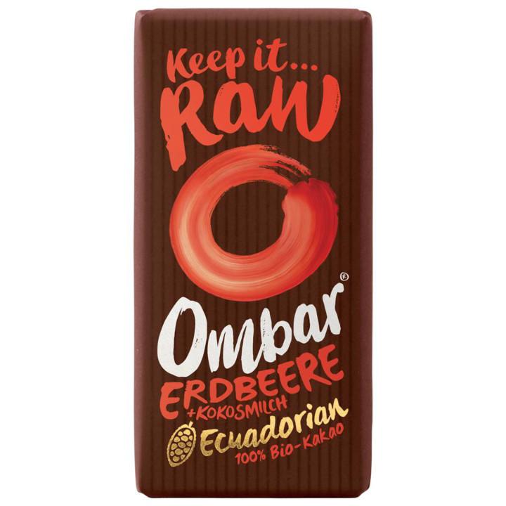 RAW čokoláda jahodová