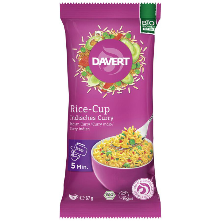 Rice cup indické curry