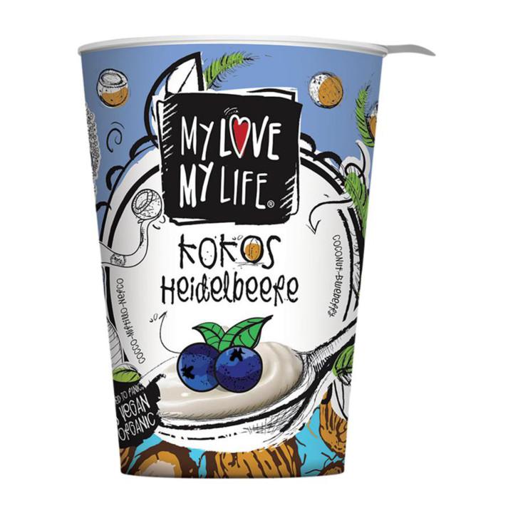 Kokosový jogurtový dezert čučoriedky