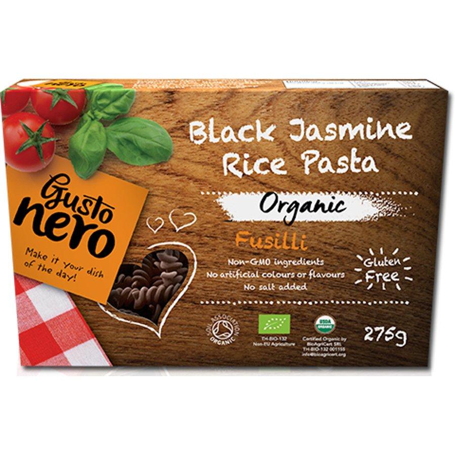 Fusilli z čiernej jazmínovej rýže