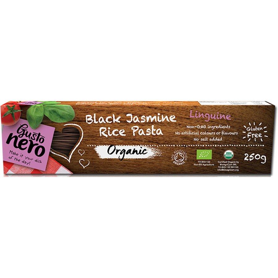 Linguine z čiernej jazmínovej ryže