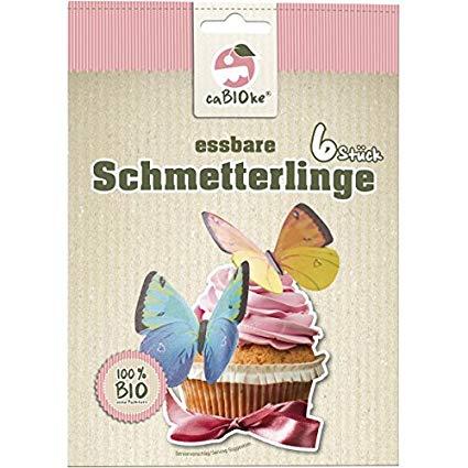 Ozdobné jedlé motýliky 6 ks