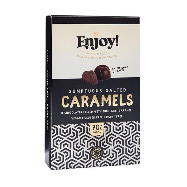 Plnené pralinky slaný karamel