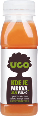 UGO Mrkva - jablko 250 ml RAW