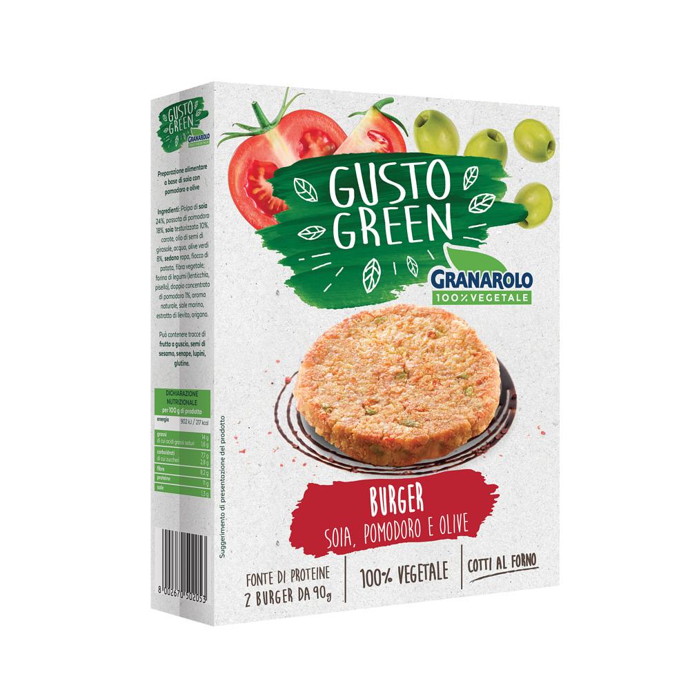 Burger paradajky, olivy