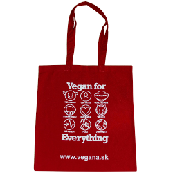 Taška Vegan for Everything - červená