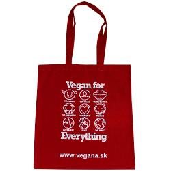 Taška Vegan for Everything - červená