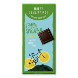 Proteínová čokoláda citrón, spirulina