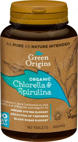 Chlorella a spirulina