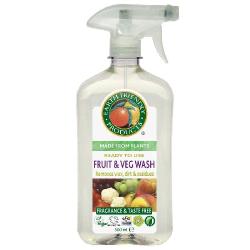 Spray na čistenie ovocia a zeleniny