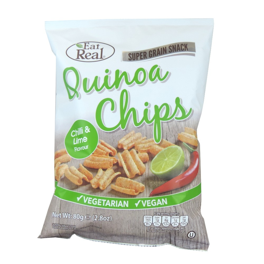 Quinoa chipsy chilli, limetka 80 g