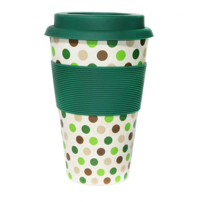 Ecoffee cup Green Polka