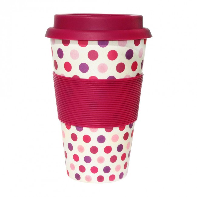 Ecoffee cup Pink Polka