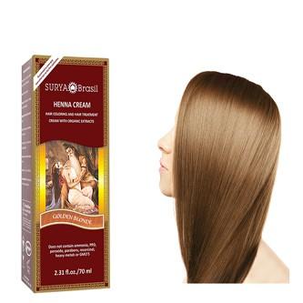 Farba na vlasy na báze henny - Zlatý blond
