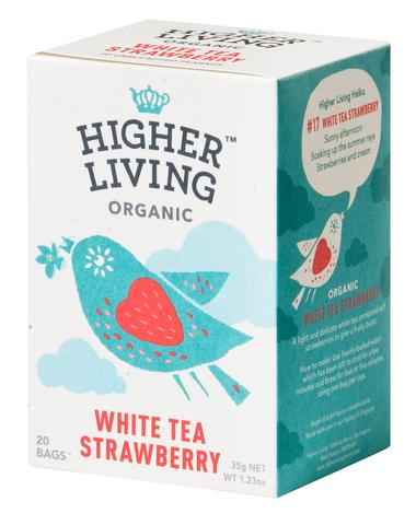 Biely čaj jahoda