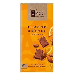 Čokoláda iChoc mandle a pomaranč