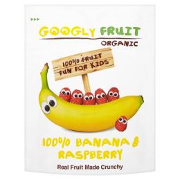 Banány a maliny sušené mrazom