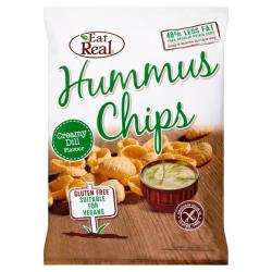 Hummus chipsy s kôprom