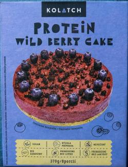 Proteínový koláč s lesným ovocím