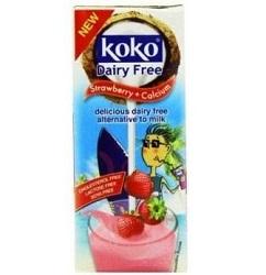 Kokosový nápoj jahoda s vápnikom