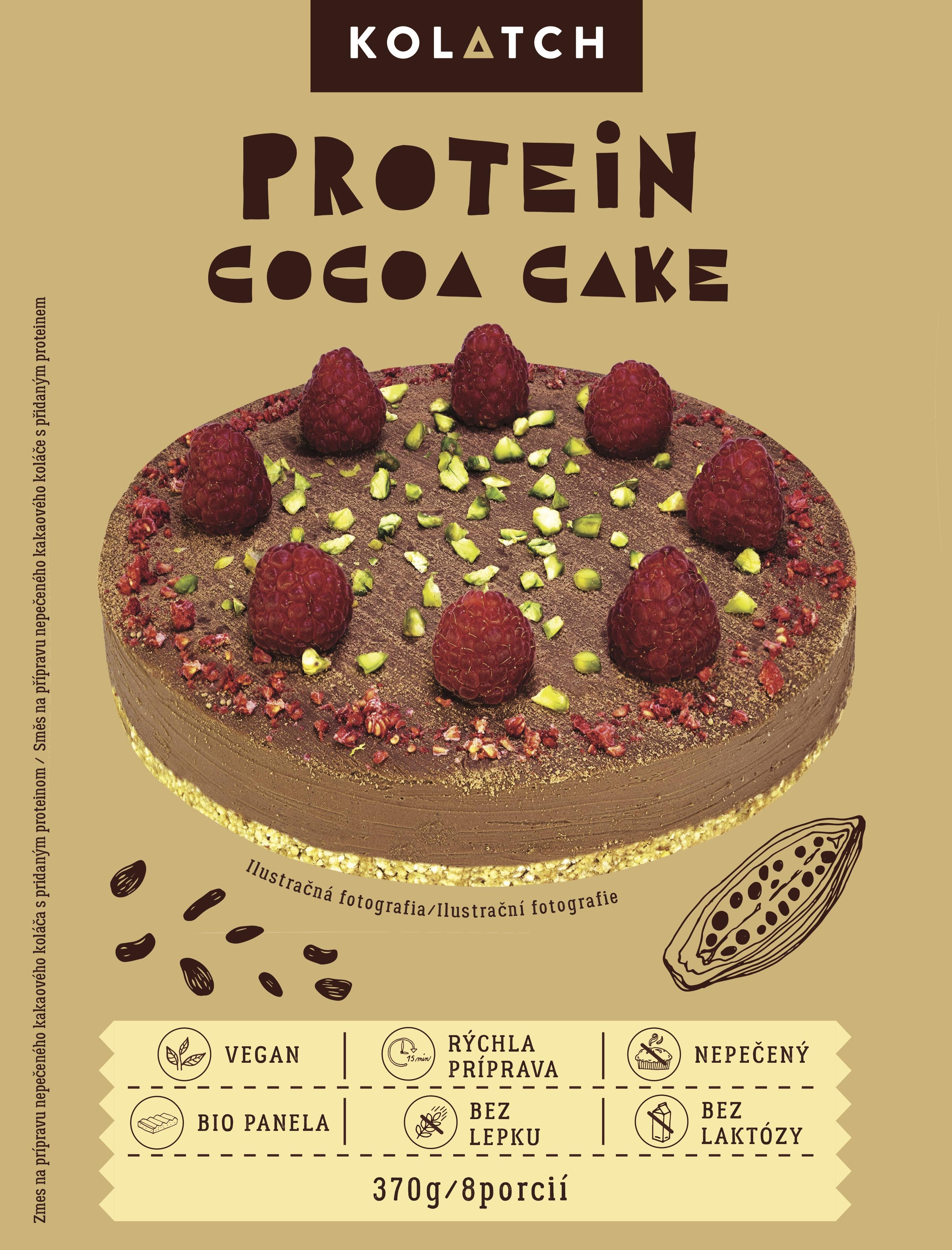 Proteínový kakaový koláč