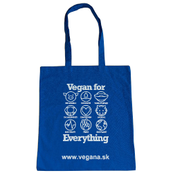 Taška Vegan for Everything - modrá