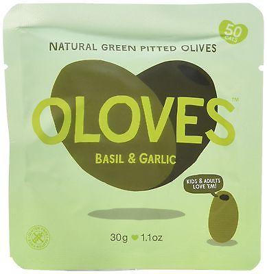 Zelené olivy s bazalkou a cesnakom