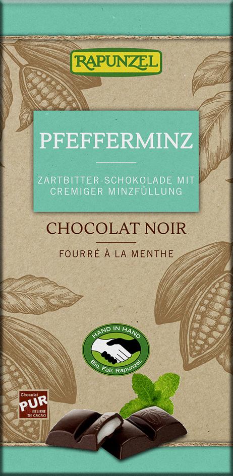 Čokoláda s mätovou plnkou