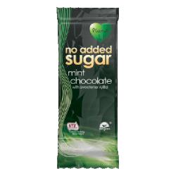 Čokoláda bez cukru mätová