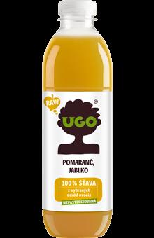 UGO Pomaranč - jablko 1 l RAW