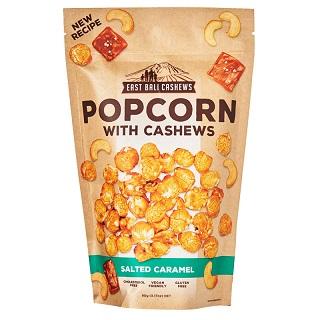 Kešu a popcorn v karameli