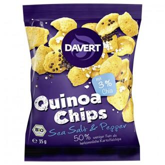 Quinoa chipsy soľ a korenie
