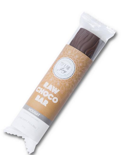 RAW čokoláda plnená - nugát