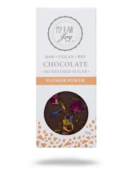 RAW čokoláda jedlé kvety