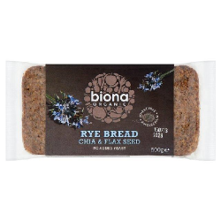 Ražný chlieb krájaný s chia a ľanom