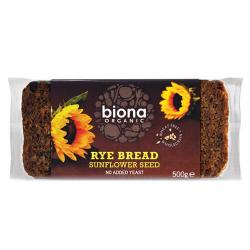 Ražný chlieb krájaný so slnečnicou
