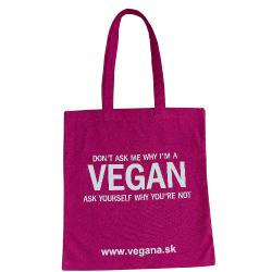 Taška Vegan - ružová