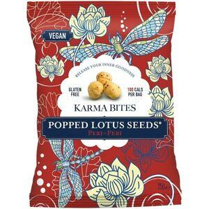 Pufované lotosové semienka peri-peri