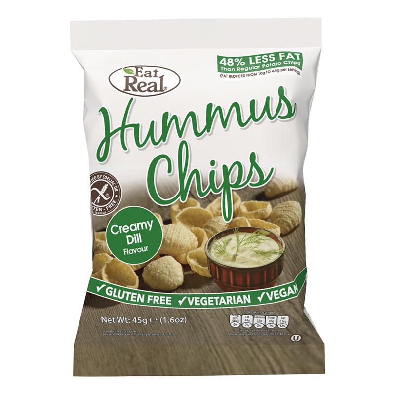 Hummus chipsy s kôprom 45 g