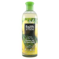 Sprchový gél a pena citrón a tea tree