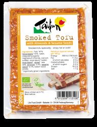 Údené tofu s mandľami a sezamom