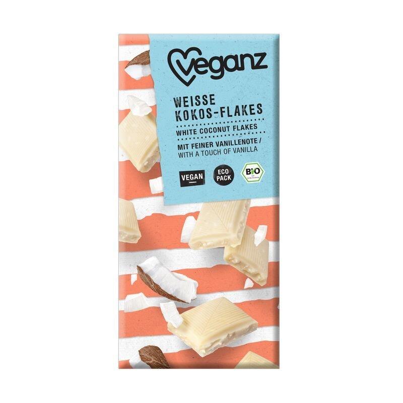 Biela čokoláda kokosové lupienky