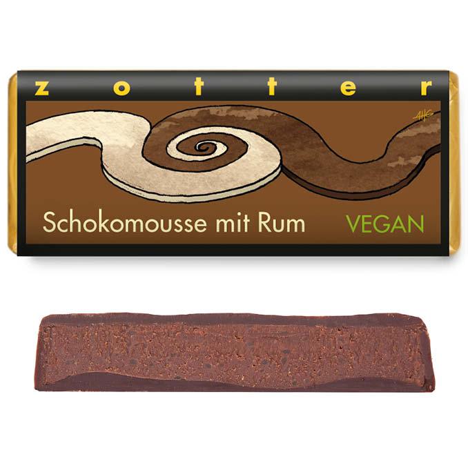 Čokoládová rumová pena