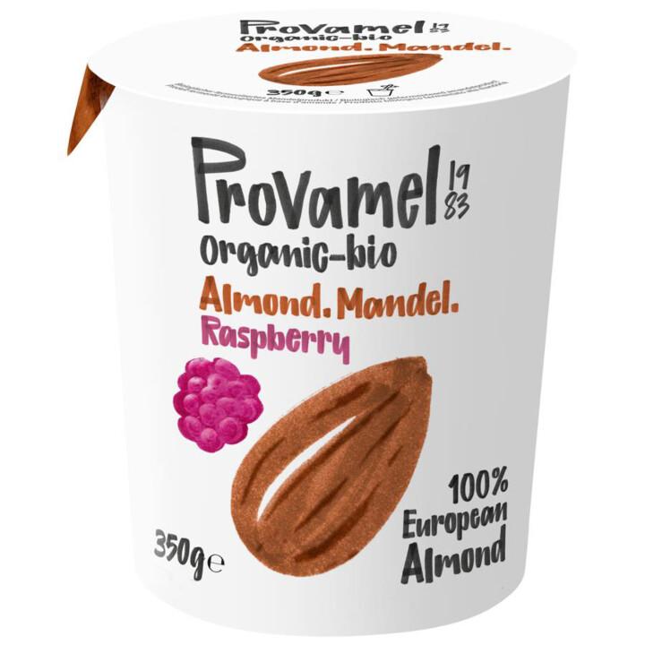 Mandľový jogurt maliny