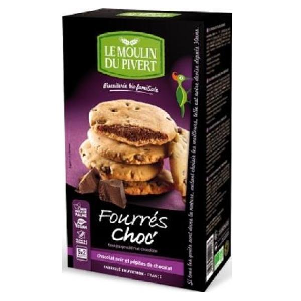 Cookies plnené čokoládou