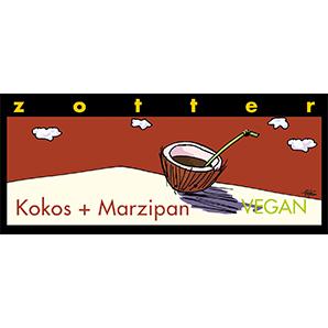 Čokoláda kokos a marcipán