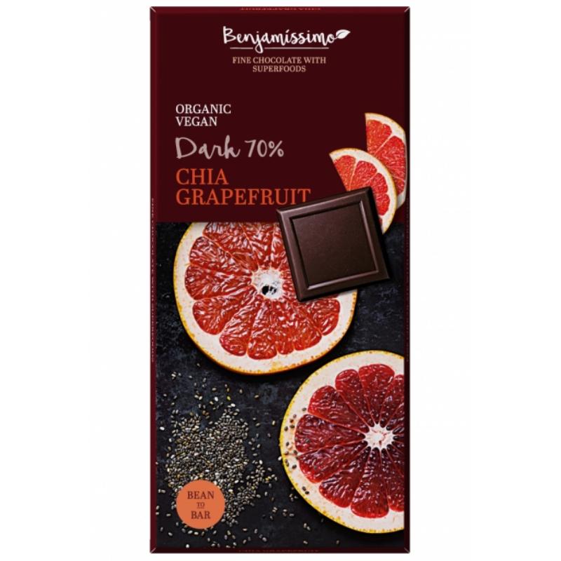 Tmavá čokoláda s chia a grepfruitom